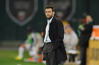 Washington, D.C.- March 29, 2014.D.C. United Head Coach Ben Olsen.  D.C. United defeated the New England Revolution 2-0 during a Major League Soccer Match for the 2014 season at RFK Stadium.