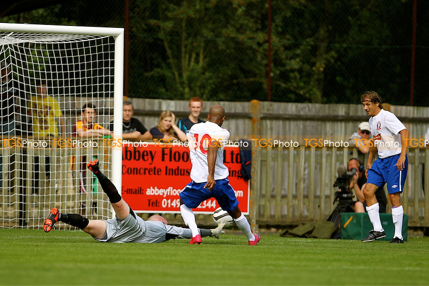 Paul Shelton of Wembley fires his side into the lead - Uxbridge vs Wembley - FA Cup Preliminary Round Football at Honeycroft, Uxbridge, Middlesex - 26/08/12 - MANDATORY CREDIT: Andy Nunn/TGSPHOTO - Self billing applies where appropriate - 0845 094 6026 - contact@tgsphoto.co.uk - NO UNPAID USE.
