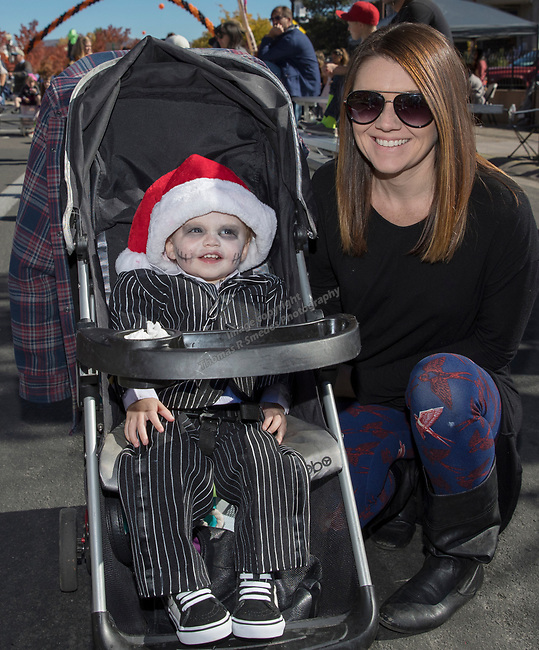 Morgan and 1 1/2-year-old Emmett during Pumpkin Palooza in Sparks, Nevada on Sunday, Oct. 22, 2017.