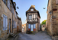 France, Indre (36), Saint-Beno&icirc;t-du-Sault, labellis&eacute; Les Plus Beaux Villages de France, rue du village // France, Indre, Saint Benoit du Sault, labelled Les Plus Beaux Villages de France (The Most beautiful<br /> Villages of France), street