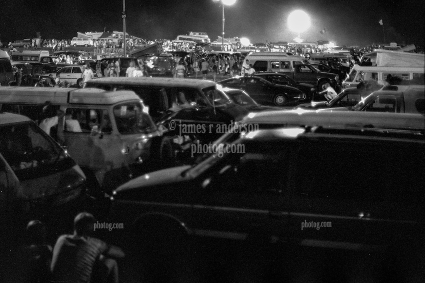 The Parking Lot after the second show: Grateful Dead at Pine Knob Music Theatre, Clarkston, MI on 20 June 1991