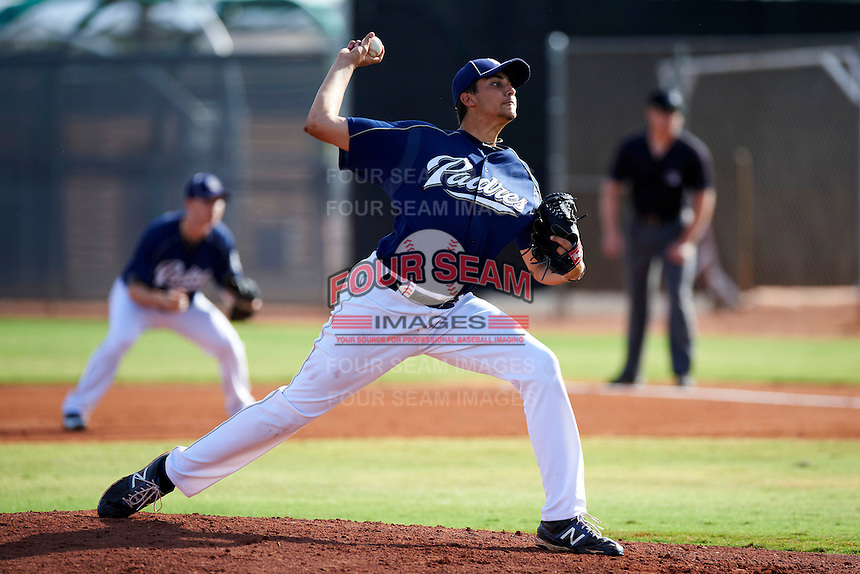 San Diego Padres minor league pitcher Zach Eflin #36 during an instructional league game against the Seattle Mariners at the Peoria Sports Complex on October 6, 2012 in Peoria, Arizona.  (Mike Janes/Four Seam Images)