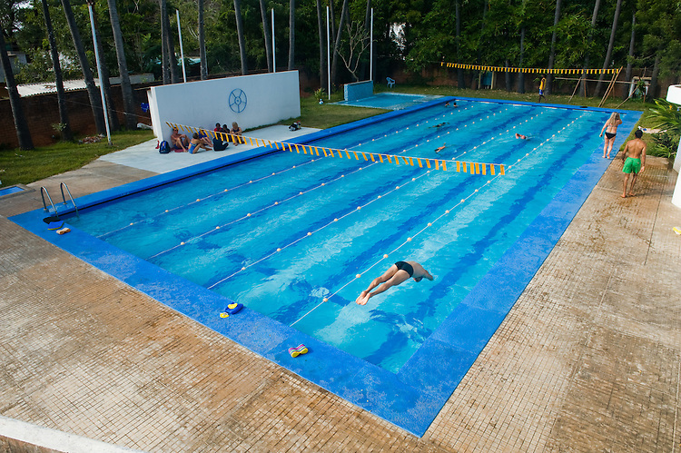 Auroville swimming pool. 2014
