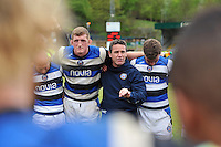 Bath Head Coach Mike Ford speaks to his players after the match. Amlin Challenge Cup semi-final, between London Wasps and Bath Rugby on April 27, 2014 at Adams Park in High Wycombe, England. Photo by: Patrick Khachfe / Onside Images