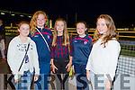 Emer Murphy, Elizabeth O'Connor, Caoimhe Leahy, Tara Fields and Alva Ryhall enjoying the  John Mitchels Night At the Dogs in Kingdom  Greyhound Stadium on Saturday