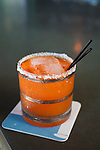 "Beaker and Flask, a restaurant and bar in SE Portland, Oregon, serves up specialty cocktails.  The cocktail called Zanahorita, which means, ""little carrots."""