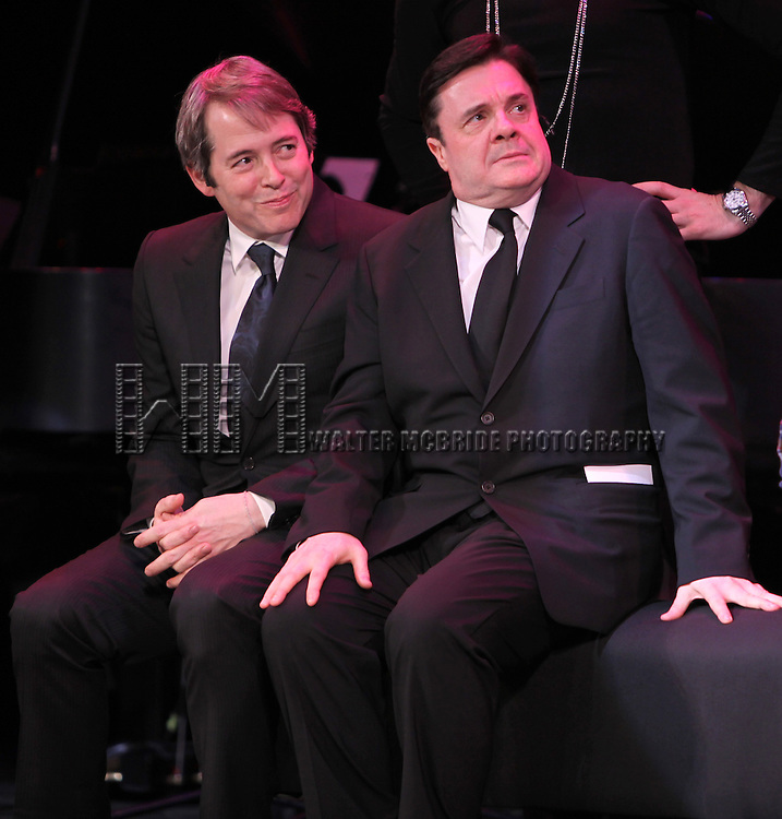 Matthew Broderick & Nathan Lane (The Producers).performing in STRO! The Vineyard Theatre Annual Spring Gala honors Susan Stroman at the Hudson Theatre in New York City.