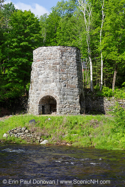 Stone Iron Furnace in Franconia, New Hampshire. Originally built in the early 1800s this is the only blast furnace still standing in New Hampshire.