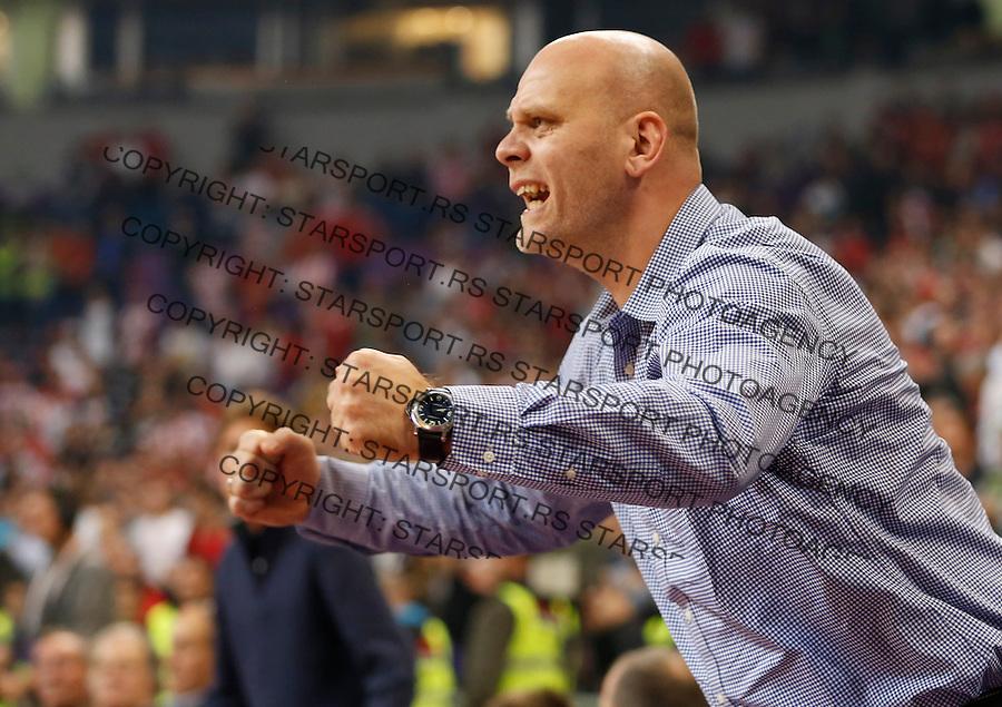 Kosarka Euroleague season 2013-2014<br /> Crvena zvezda v lokomotiva Kuban<br /> Euroleague<br /> Mirko Pavlovic<br /> Beograd, 17,10.2013.<br /> foto: Srdjan Stevanovic/Starsportphoto &copy;
