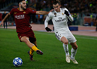 Gareth Bale of Real Madrid  and Gareth Bale of Real Madrid  during the Champions League Group  soccer match between AS Roma - Real Madrid  at the Stadio Olimpico in Rome Italy 27 November 2018