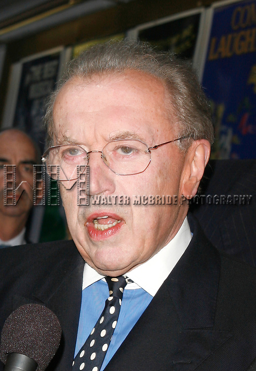 David Frost <br /> arriving for the Opening Night performance of FROST NIXON at the Bernard B. Jacobs Theatre in New York City.<br /> April 22, 2007