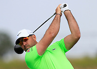 Anthony Snobeck (FRA) on the 1st tee during Round 1 of the Challenge de Madrid, a Challenge  Tour event in El Encin Golf Club, Madrid on Wednesday 22nd April 2015.<br /> Picture:  Thos Caffrey / www.golffile.ie