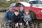 Chocolate Easter eggs, no chance, we're going motor racing, Killarney group of John Hickey with Jonathon, David&Michael O'Donoghue at the Limerick motor club National Championship Autocross in Bridgetown, Co Clare last Sunday.