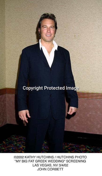 "©2002 KATHY HUTCHINS / HUTCHINS PHOTO.""MY BIG FAT GREEK WEDDING"" SCREENING.LAS VEGAS, NV 3/4/02.JOHN CORBETT"