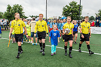 Boston, MA - Friday July 07, 2017: The match officials during a regular season National Women's Soccer League (NWSL) match between the Boston Breakers and the Chicago Red Stars at Jordan Field.