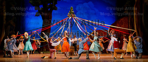 Hungarian National Ballet Company presents the dance piece La Fille Mal Gardee Choreographed by Sir Frederick Ashton in Hungary State Opera House,  Budapest, Hungary, Tuesday, 23. November 2010. ATTILA VOLGYI