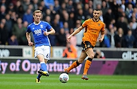 Birmingham City's Maikel Kieftenbeld <br /> <br /> Photographer Ashley Crowden/CameraSport<br /> <br /> The EFL Sky Bet Championship - Wolverhampton Wanderers v Birmingham City - Sunday 15th April 2018 - Molineux - Wolverhampton<br /> <br /> World Copyright &copy; 2018 CameraSport. All rights reserved. 43 Linden Ave. Countesthorpe. Leicester. England. LE8 5PG - Tel: +44 (0) 116 277 4147 - admin@camerasport.com - www.camerasport.com