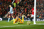 Tom Heaton of Aston Villa during the Premier League match at Old Trafford, Manchester. Picture date: 1st December 2019. Picture credit should read: Phil Oldham/Sportimage