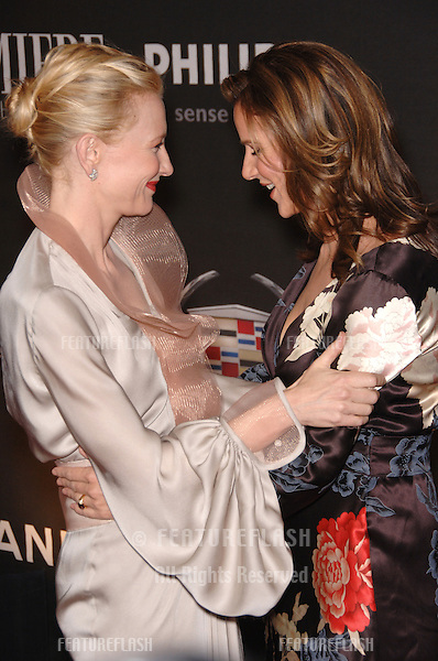 Actresses CATE BLANCHETT (left) & RACHEL GRIFFITHS at the 13th Annual Premiere Magazine Women in Hollywood gala at the Beverly Hills Hotel..September 20, 2006  Los Angeles, CA.© 2006 Paul Smith / Featureflash