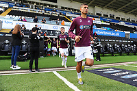 Kyle Naughton of Swansea City during the pre-match warm-up for the Sky Bet Championship match between Swansea City and Rotherham United at the Liberty Stadium in Swansea, Wales, UK.  Friday 19 April 2019