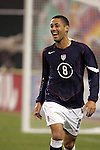 10 February 2006: Clint Dempsey, of the United States, reacts after the U.S. had taken a 1-0 lead in the 24th minute. The United States Men's National Team defeated Japan 3-2 at SBC Park in San Francisco, California in an International Friendly soccer match.