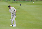 Wale's Matt Johnson hits a shot off the 4th fairway..Celebrity Cup at Golf Live  - Day 2 - Celtic Manor Resort - Saturday 11th  May  2013 - Newport ..© www.sportingwales.com- PLEASE CREDIT IAN COOK