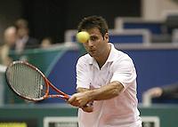 21-2-06, Netherlands, tennis, Rotterdam, ABNAMROWTT,  Santoro in his match against Mathieu i