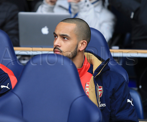 05.03.2016. White Hart Lane, London, England. Barclays Premier League. Tottenham Hotspur versus Arsenal. Theo Walcott of Arsenal was an unused sub on the bench for the game.