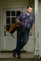 NWA Democrat-Gazette/ANDY SHUPE<br /> Willi Carlisle is a poet, songwriter, musician and playwright who is working on his second album at Homestead Recording in Fayetteville.