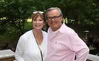 NWA Democrat-Gazette/CARIN SCHOPPMEYER Cheryl and Gene Long enjoy the Jones Center Wine Walk.