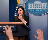 White House Press Secretary Sarah Sanders holds a news briefing at the White House in Washington, DC, December 18, 2018 Credit: Chris Kleponis / CNP