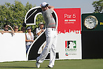 Simon Dyson teeing off on the second.on day one of the Dubai World Championship on the Earth Course at the Jumeirah Golf Estate, Dubai..Picture Fran Caffrey/www.golffile.ie.