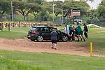 08.01.2019, With Sturrock Park , Johannesburg, RSA, TL Werder Bremen Johannesburg Tag 06<br /> <br /> im Bild / picture shows <br /> <br /> ein einheimischer hatte nach dem Training eine kleine Panne - schon halfen die Werder Profis Jaroslav Drobny (Werder Bremen #33)<br /> Martin Harnik (Werder Bremen #09)<br /> Sebastian Langkamp (Werder Bremen #15) aus der Patsche<br /> <br /> Foto © nordphoto / Kokenge