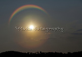 "A rainbow surrounding the sun on a beautiful Southern California evening.  Spectacular!  20"" x 14"".  Printed on Parrot Digigraphic Ultra Lustre paper.  Limited Edition of 25."