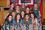 DANCERS: Dancers from the Titanic who opened the fundraising Tralee Musical Socity Fashion Show in the Brandon Hotel, Tralee on Friday night. they were: Ruth Muligan, Shauna O'Dowd, Katie O'Riordan, Evangeline O'Dwod, Niamh Hurley, Aislinn Ringland, Anna Tiayes, Martina O'Connor, Kayla O'Brien, Maeve Cantillon and Sean Hanifin.......................