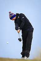 Tom McKibbin (Holywood) on the 6th tee during the Final Round of the Connacht U18 Boys Open 2018 on Carne Golf Links at Belmullet Golf Club on Sunday 6th April 2018.<br /> Picture:  Thos Caffrey / www.golffile.ie<br /> <br /> All photo usage must carry mandatory copyright credit (&copy; Golffile | Thos Caffrey)