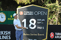 Ross Fisher (ENG) during the second round of the Turkish Airlines Open, Montgomerie Maxx Royal Golf Club, Belek, Turkey. 08/11/2019<br /> Picture: Golffile | Phil INGLIS<br /> <br /> <br /> All photo usage must carry mandatory copyright credit (© Golffile | Phil INGLIS)