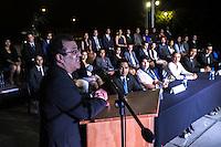 Querétaro, Qro. 9 de octubre de 2015.- El rector de la Universidad Autónoma de Querétaro (UAQ), Dr. Gilberto Herrera Ruiz, encabezó la ceremonia de toma de protesta al nuevo presidente de la Federación de Estudiantes de Querétaro (FEUQ), Christian Martín Gudiño Lugo y a las 34 sociedades de alumnos pertenecientes a las 10 facultades federadas y a la Escuelas de Bachilleres.<br /> <br /> Javier González Garrigós, presidente saliente de las FEUQ, le tomó la protesta a Martín Gudiño Lugo, quien es estudiante de la Licenciatura en Informática. Acompañaron a Gudiño, el secretario de Desarrollo Social del Estado de Querétaro, Lic. Agustín Dorantes Lámbarri -en representación del gobernador, M.V.Z. Francisco Domínguez Servién- además de la Lic. Tania Palacios Kuri, titular de la Secretaría de la Juventud.
