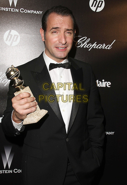 Jean Dujardin.The Weinstein Company 2012 Golden Globe Awards After Party held at  Bar 210 at the Beverly Hilton Hotel, Hollywood, California, USA..January 15th, 2012.globes half length black white tuxedo award trophy winner  .CAP/ADM/CH.©Charles Harris/AdMedia/Capital Pictures