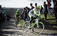 after years of anonymous riding, Filippo Pozzato (ITA/Southeast-Venezuela) apparently resurfaces in the cobbled spring classics<br /> <br /> E3 - Harelbeke 2016