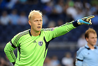 Jimmy Nielsen Sporting KC goalkeeper giving directions... Sporting KC defeated San Jose Earthquakes 1-0 at LIVESTRONG Sporting Park, Kansas City, Kansas.