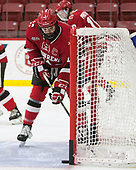 Alexander Dahl (SLU - 14) - The Harvard University Crimson defeated the St. Lawrence University Saints 6-3 (EN) to clinch the ECAC playoffs first seed and a share in the regular season championship on senior night, Saturday, February 25, 2017, at Bright-Landry Hockey Center in Boston, Massachusetts.