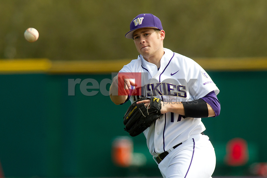 The University of Washington baseball team competes against Gonzaga University at Husky Ballpark  in Seattle, Wash. on Tuesday April 10, 2012.(Photo by Scott Eklund /Red Box Pictures) Robert Pehl