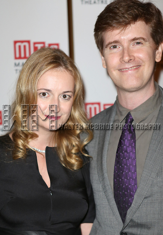 Playwright Nell Benjamin; Composer Marc Bruni attending the Opening Night After Party for the MTC Production of 'The Explorers Club' at Bond 45 Restaurant in New York City  on June 20, 2013.