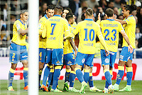 UD Las Palmas' players celebrate goal during La Liga match. March 1,2017. (ALTERPHOTOS/Acero) /NortePhoto.com