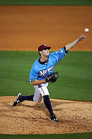 NW Arkansas Naturals pitcher Sam Selman (17) delivers a pitch during a game against the San Antonio Missions on May 30, 2015 at Arvest Ballpark in Springdale, Arkansas.  San Antonio defeated NW Arkansas 5-2.  (Mike Janes/Four Seam Images)