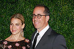 Jessica Seinfeld and Jerry Seinfeld arrive at the MoMa Film Benefit Tribute to Julianna Moore presented by Chanel, at the Musuem of Modern Art in New York City, on November 13, 2017.