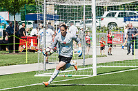 Kansas City, MO - Saturday May 13, 2017:  Nicole Barnhart collects ball during a regular season National Women's Soccer League (NWSL) match between FC Kansas City and the Portland Thorns FC at Children's Mercy Victory Field.