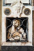 Neove Illic Mortuus, funerary monument to Giovan Battista Gisleni, Basilica of Santa Maria del Popolo, Rome, Italy