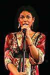 """Karla Mosley """"Christina"""" GL performs at the Broadway For A New America presented by the Jewish Alliance for Change on April 13, 2009 at the Peter Norton Symphony Space, NYC. (Photo by Sue Coflin/Max Photos)"""